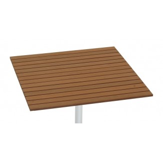 "24"" Square Composite Teak Slat Table Top"