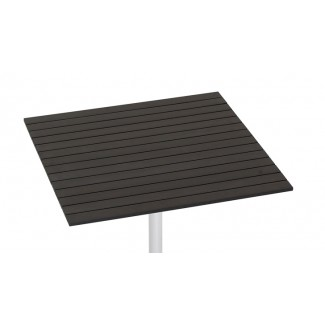 "24"" x 30"" Composite Teak Slat Table Top"