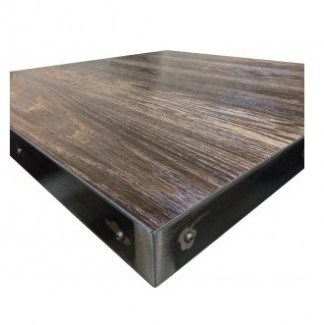24x24 inch square Industrial Commercial Metal Edge Indoor Restauarnt Cafe Bar Table Top Square