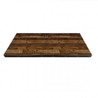 24x30 inch Rectangle Industrial Commercial Metal Edge Indoor Restauarnt Cafe Bar Table Top
