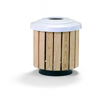 30 Gallon Trash Can with Lid and Liner - In Ground