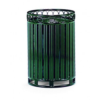 30 Gallon Trash Can with Powder Coated Lid and Liner