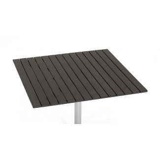 "30"" x 48"" Composite Teak Slat Table Top"