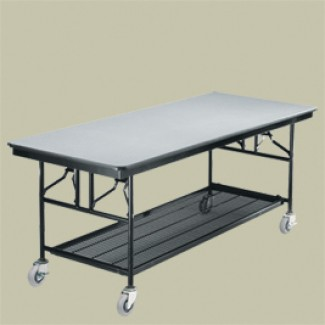 "30"" x 72"" Folding Utility Table with Wheels"