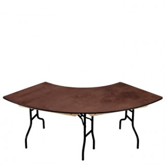 "30"" x 96"" Crescent Folding Banquet Table"