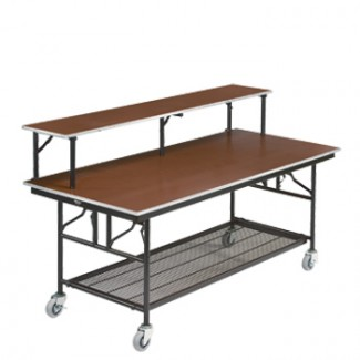 "30"" x 96"" Folding Bar/Buffet Table with Wheels"