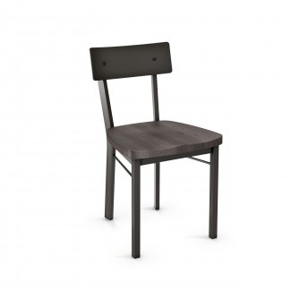 Lauren Side Chair - Wood Seat Metal Back