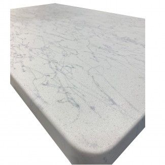 30x30 square  Fiberglass Faux Carrara Marble Outdoor Commercial Restaurant Hotel Cafe Hospitality Table Top