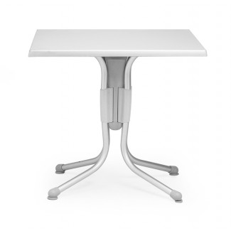 "Polo 31"" Square Aluminum Table with Argento Top"