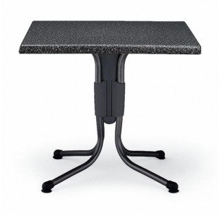 "Polo 31"" Square Aluminum Table with Granito Top"
