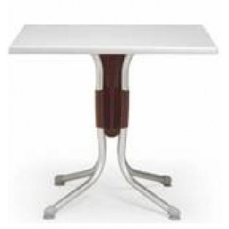 "Polo 31"" Square Restaurant Dining Table in Argento"