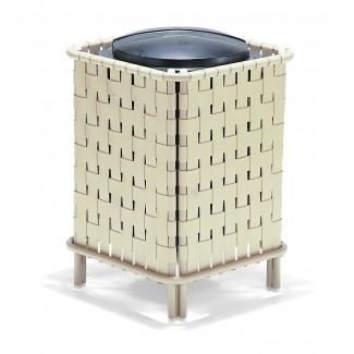 32 Gallon Crossweave Deco Trash Can with Lid and Liner