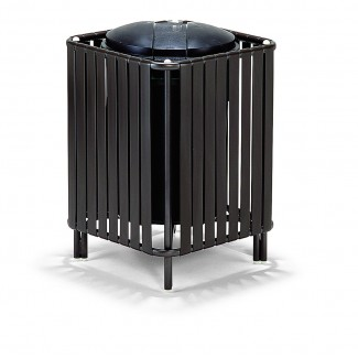 32 Gallon Deco Trash Can with Lid and Liner
