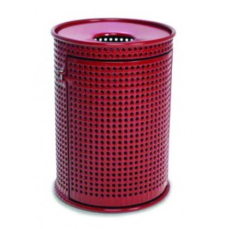 32 Gallon Plastisol Trash Can with Side Door