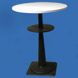 "Marzio 32"" Round Stacking Restaurant Bar Table with Black Base"