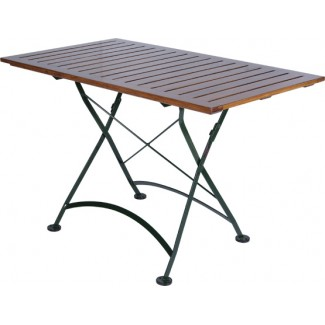 "32"" x 48"" Rectangular Table with Wood Slat Top"