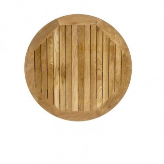 "36"" Round Teak Outdoor Hospitality Restaurant Table Top"