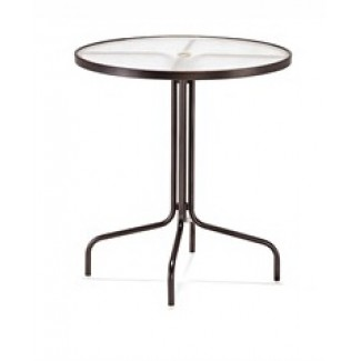 "36"" Round Acrylic Top Bar Height Table M1538"