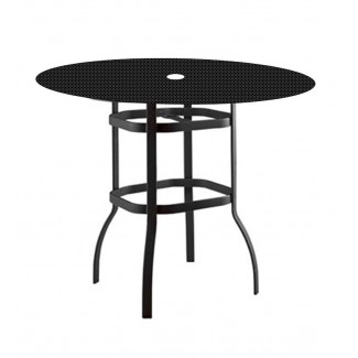 "36"" Round Bar-Height Deluxe Umbrella Table with Patterned Aluminum Top 826536"