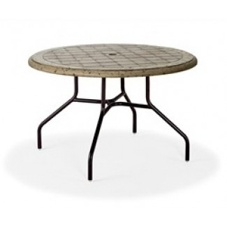 "36"" Round Cobblestone Fiberglass Top Dining Table MC1136-C"