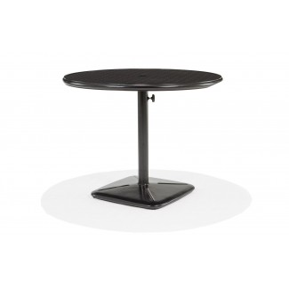 "36"" Round Dining Cafe Table with Umbrella Hole and Cast Plug"