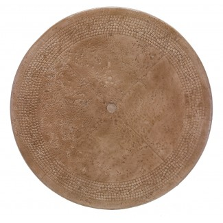 "36"" Round Faux Stone Mosaic Table Top with Umbrella Hole MRBM-036"