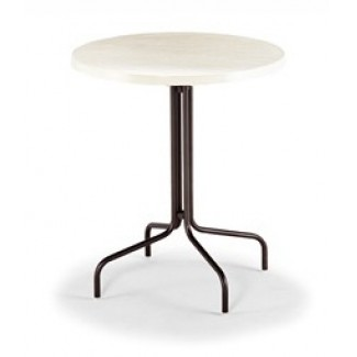 "36"" Round Slate Fiberglass Top Bar Height Table M1536"