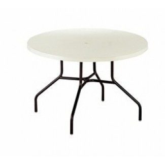 "36"" Round Slate Fiberglass Top Dining Table MC1136"