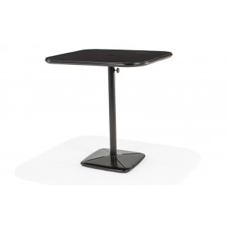 "36"" Square Bar Cafe Table with Umbrella Hole and Cast Plug"