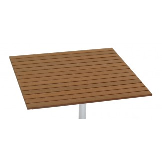 "36"" Square Composite Teak Slat Table Top"