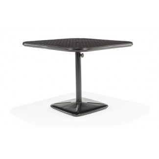 "36"" Square Dining Cafe Table with Umbrella Hole and Cast Plug"