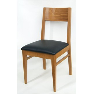 375P Commercial Restaurant Hospitality Beech wood Modern Transitional Dining Cafe Side Chair