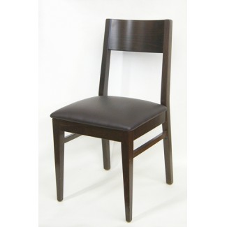 375P Walnut Commercial Restaurant Hospitality Beech wood Modern Transitional Cafe Side Chair