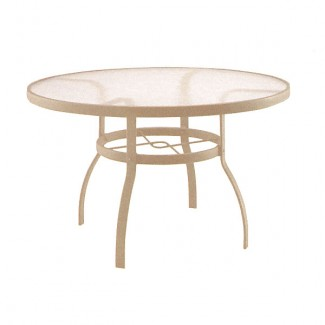 "42"" Deluxe Acrylic Top Dining Table 822142W"