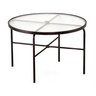 "42"" Round Acrylic Top Dining Table M1042-6"