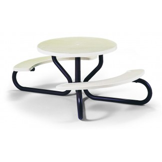 "42"" Round ADA Compliant Picnic Table with Umbrella Hole M110"