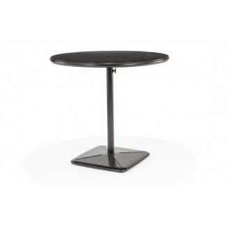 "42"" Round Bar Cafe Table with Umbrella Hole and Cast Plug"