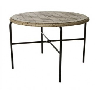 "42"" Round Cobblestone Fiberglass Top Dining Table M1142-C"