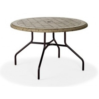 "42"" Round Cobblestone Fiberglass Top Dining Table M1144-C"