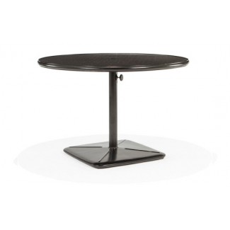 "42"" Round Dining Cafe Table with Umbrella Hole and Cast Plug"
