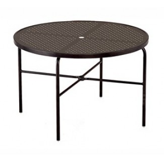 "42"" Round Stamped Aluminum Top Dining Table M1042-ST"