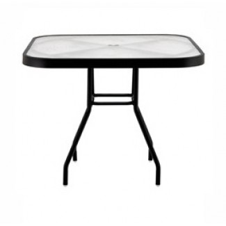 "42"" Square Acrylic Top Dining Table"