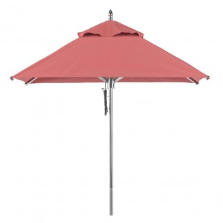 454 Greenwich 6.5ft Square Portola Aluminum Commercial Hospitality HOA Pool Restaurant Patio Umbrella