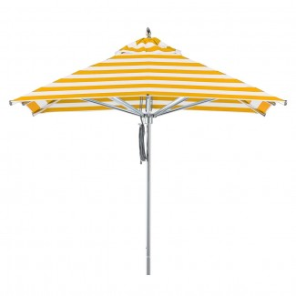 464 Greenwich 7.5ft Square Portola Aluminum Commercial Hospitality HOA Pool Restaurant Patio Umbrella