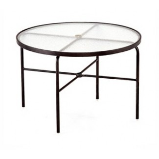 "48"" Round Acrylic Top Dining Table M1048-6"