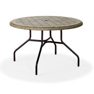 "48"" Round Cobblestone Fiberglass Top Dining Table MC-1148-C"