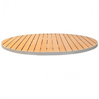 Teak composite table tops restaurant tables - Table composite aluminium ...