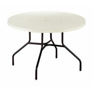 "48"" Round Slate Fiberglass Top Dining Table MC1148"