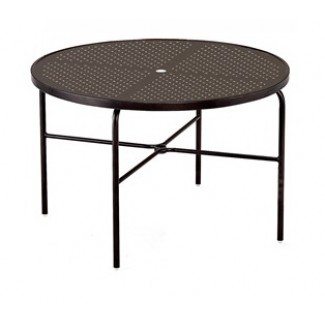 "48"" Round Stamped Aluminum Top Dining Table M1048-ST"
