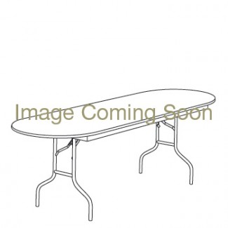"48"" x 96"" Oval Racetrack Folding Banquet Table"